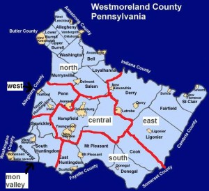 westmoreland map WEARS zones